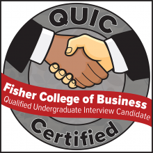Fisher College of Business QUIC badge