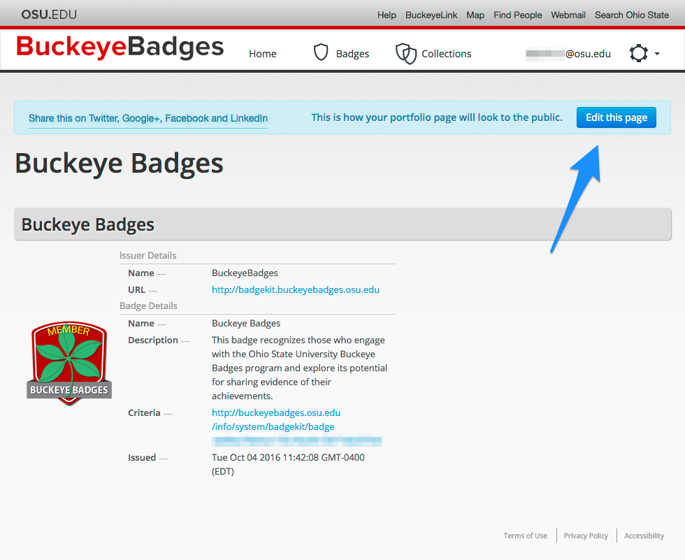 how to add badges in linkedin